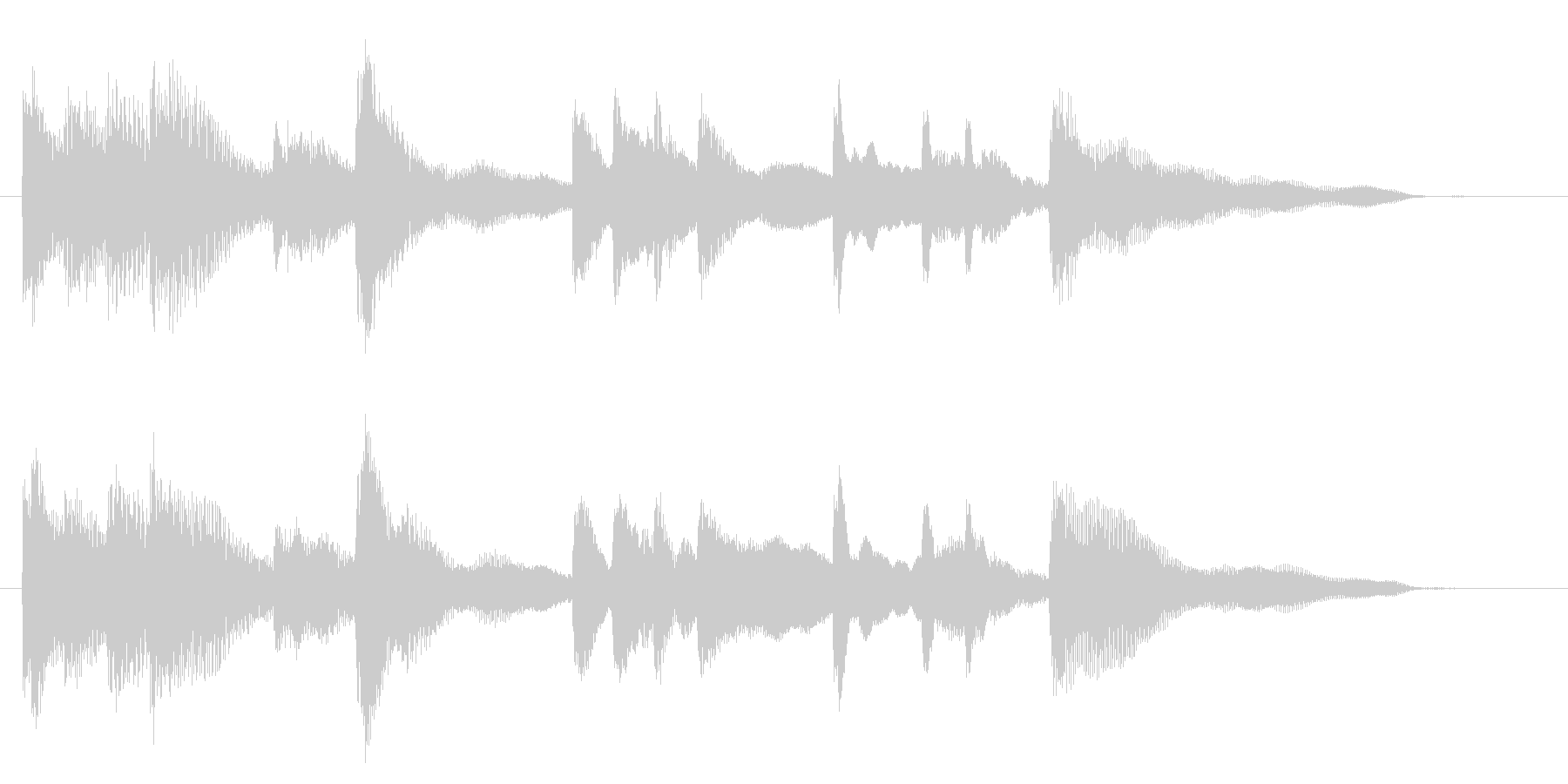 エレクトリックピアノのジングル001の未再生の波形