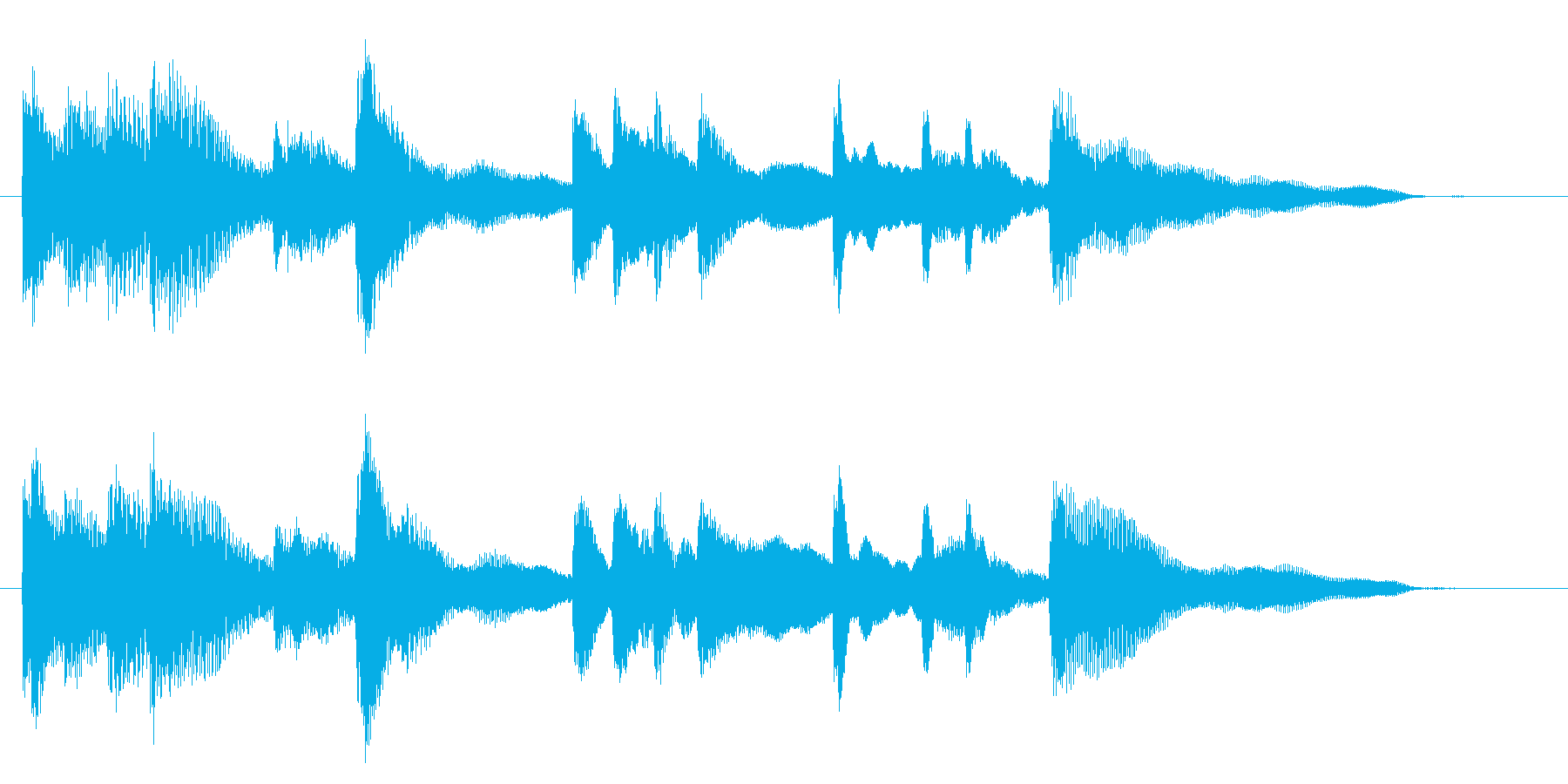 エレクトリックピアノのジングル001の再生済みの波形