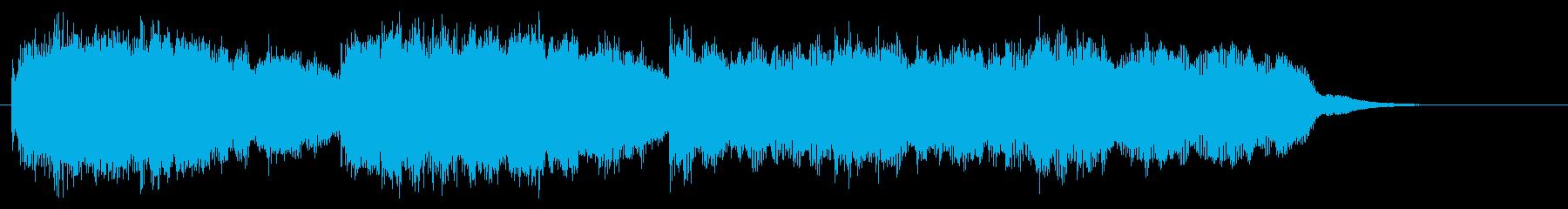 教会音楽風ですが最後は8分音符で刻みますの再生済みの波形