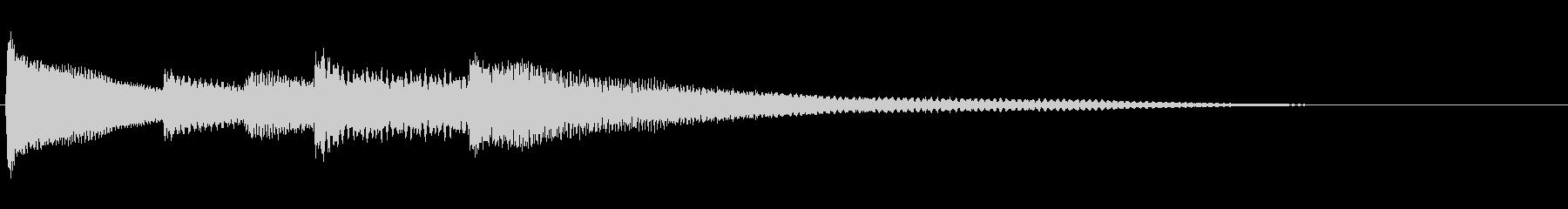 【生演奏】明るい雰囲気のピアノジングルの未再生の波形