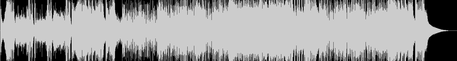速いテンポのジャズビッグバンドの未再生の波形