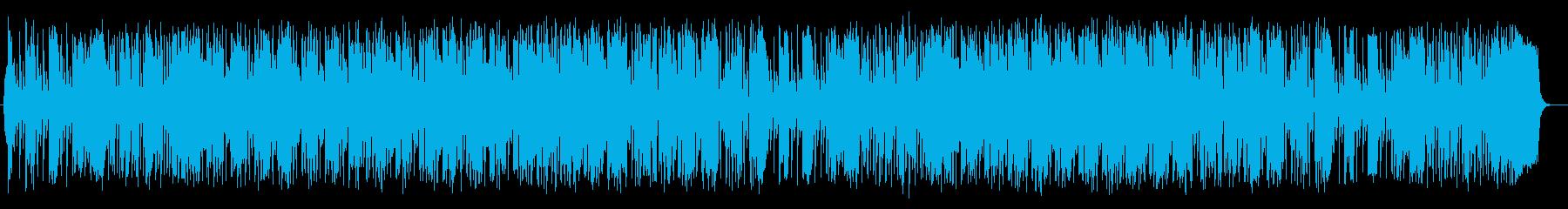 軽快で跳ねたリズムが特徴のポップスの再生済みの波形