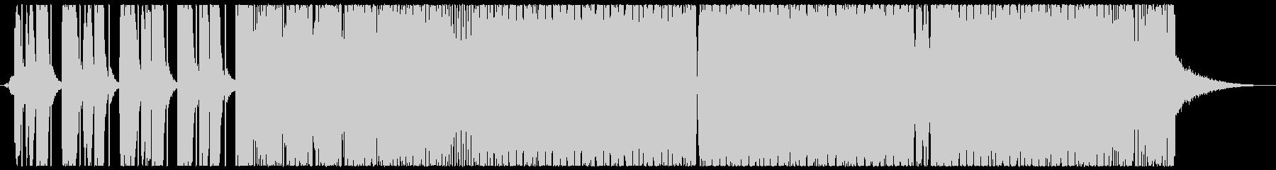 ベースサウンドの強い四つ打ちの未再生の波形