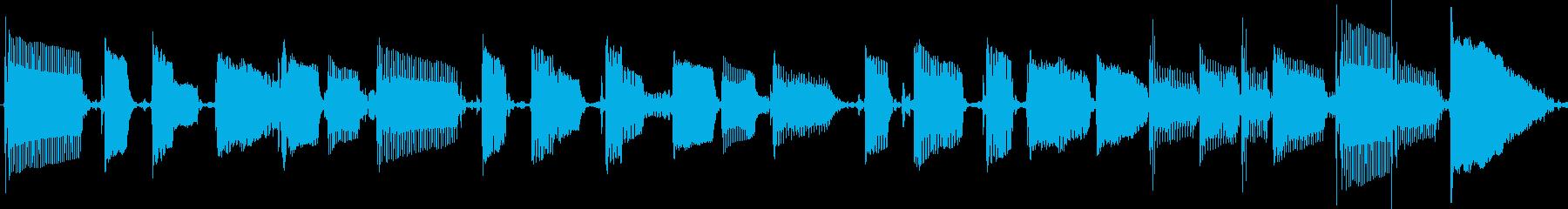 ファンキーなスラップベース素材の再生済みの波形
