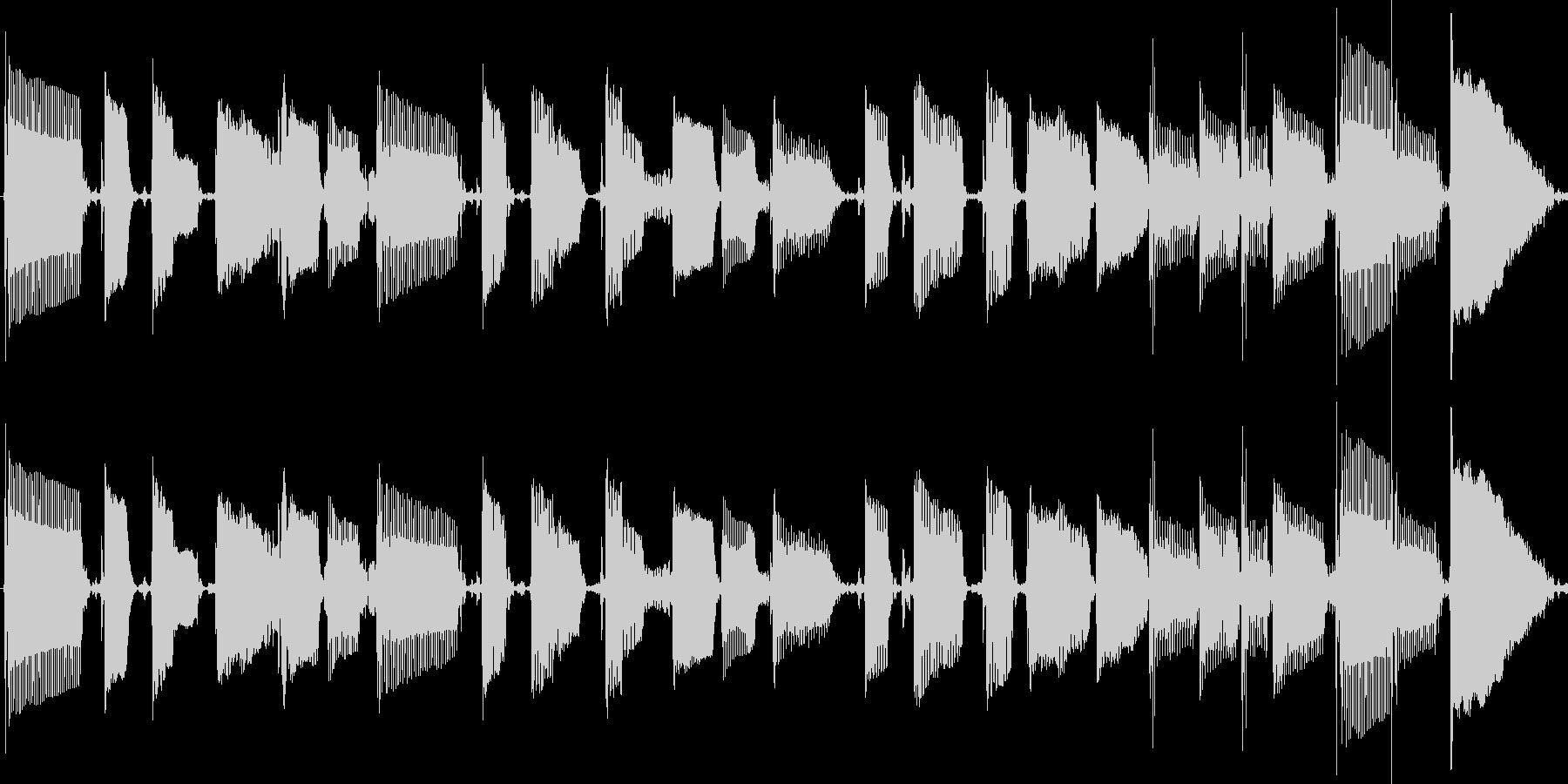 ファンキーなスラップベース素材の未再生の波形