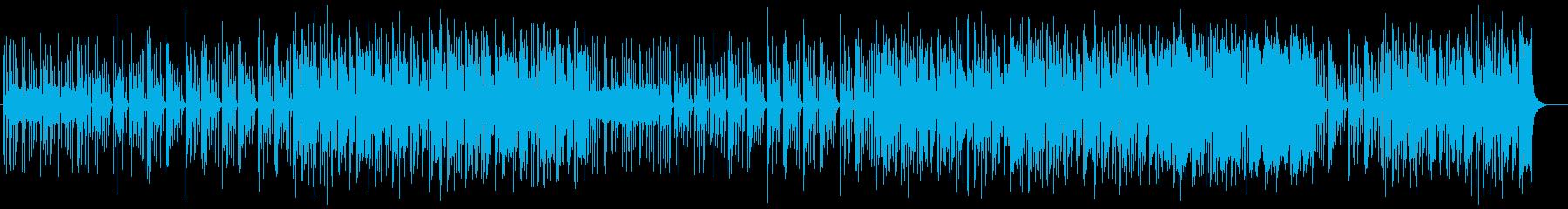 森の雨音のように木琴が跳ねるインスト曲の再生済みの波形