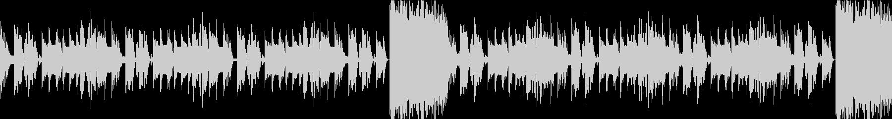 洞窟、ダンジョン、暗く切ない曲ループcの未再生の波形
