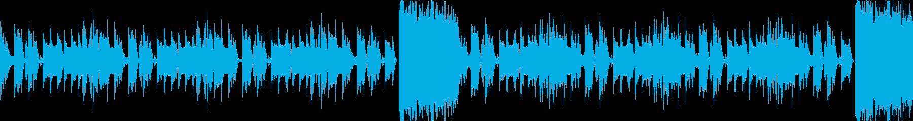 洞窟、ダンジョン、暗く切ない曲ループcの再生済みの波形