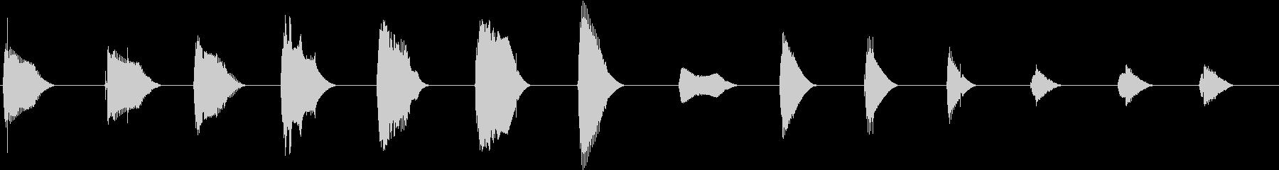 トーンベースサスペンスの未再生の波形