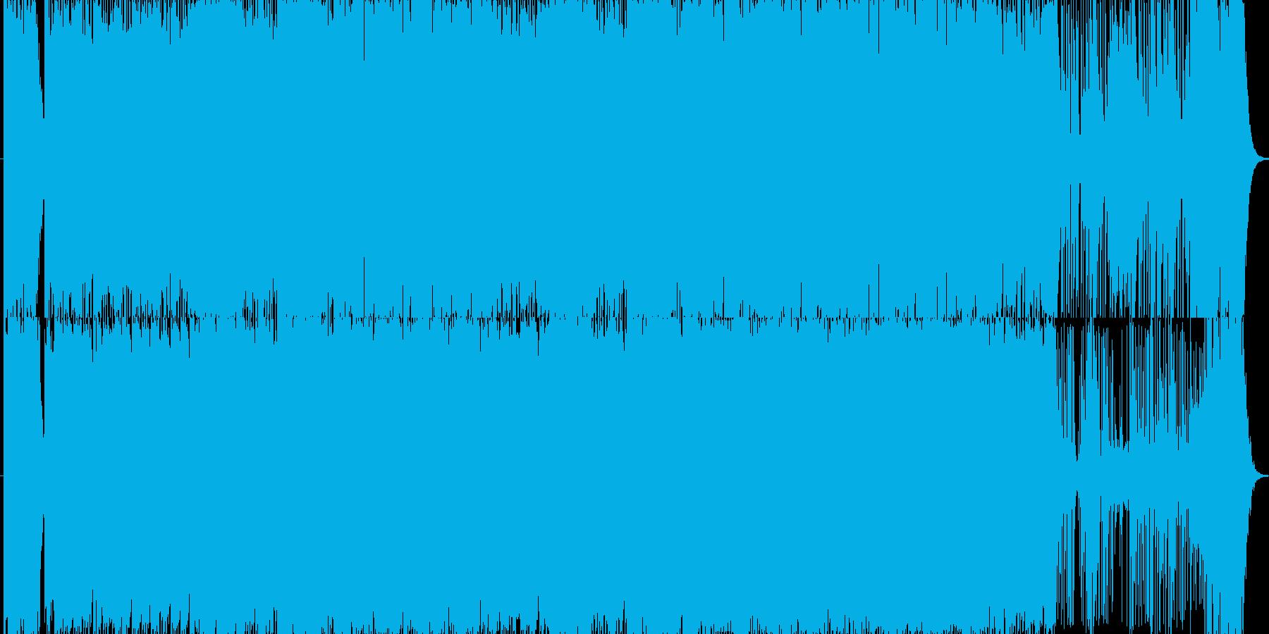 パズルゲームのようなポップな曲の再生済みの波形