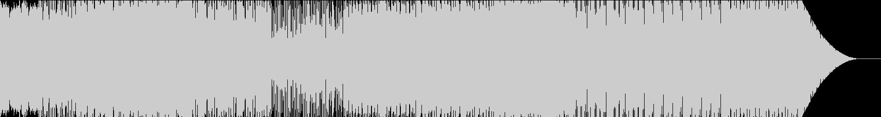 重めの雰囲気のミドルテンポエレクトロの未再生の波形