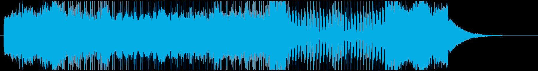 ハモンドオルガンを用いた変則的なプログレの再生済みの波形