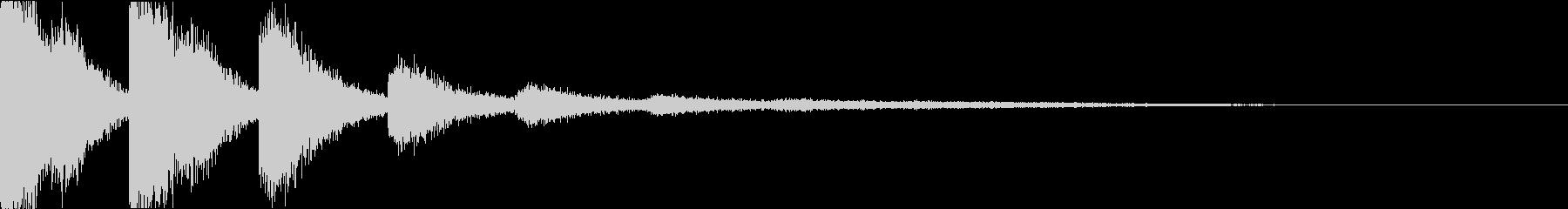 スネア:衝撃音・迫力・インパクトfの未再生の波形