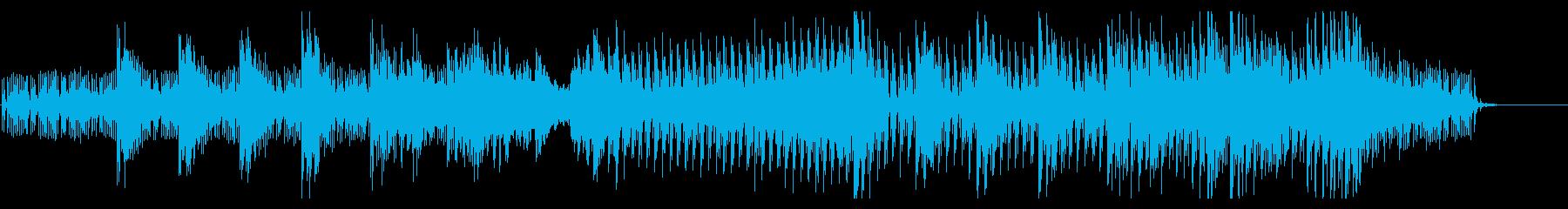 泡の立ち上る藍色の暗い海中に鼓動が加わるの再生済みの波形