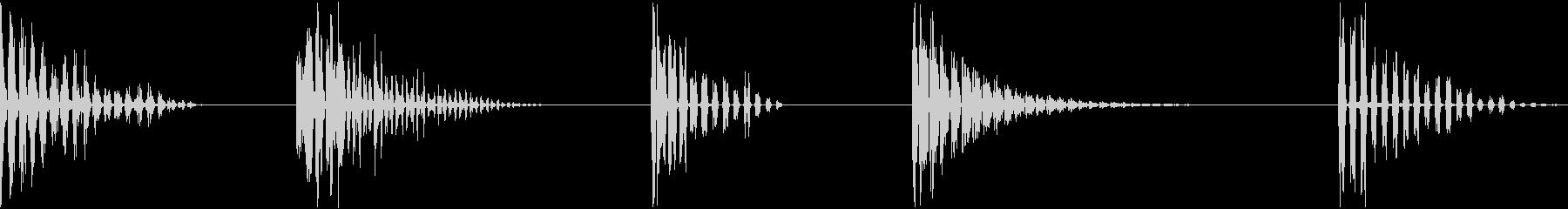 レーザー、エコーヒット、5バージョ...の未再生の波形