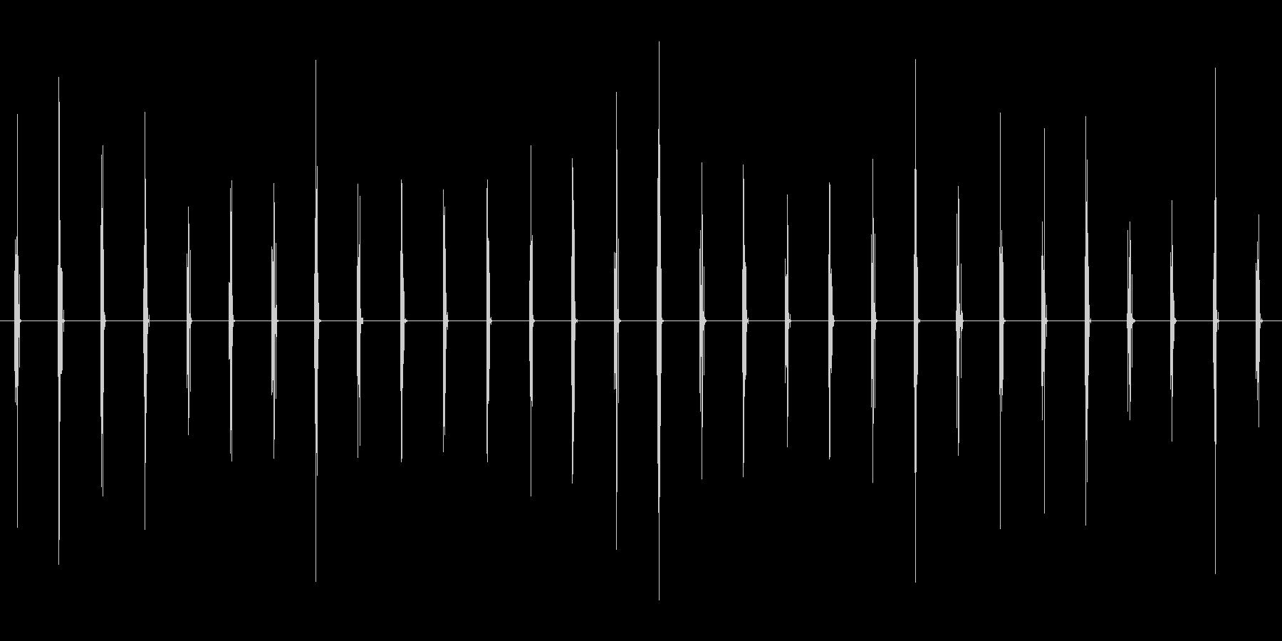 チクタク_壁時計の秒針_深夜_【生録音】の未再生の波形