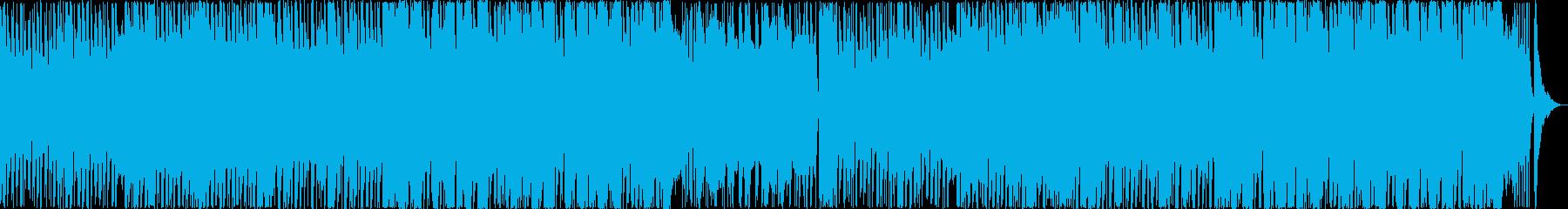 場に活気をもたらすシャッフルの再生済みの波形