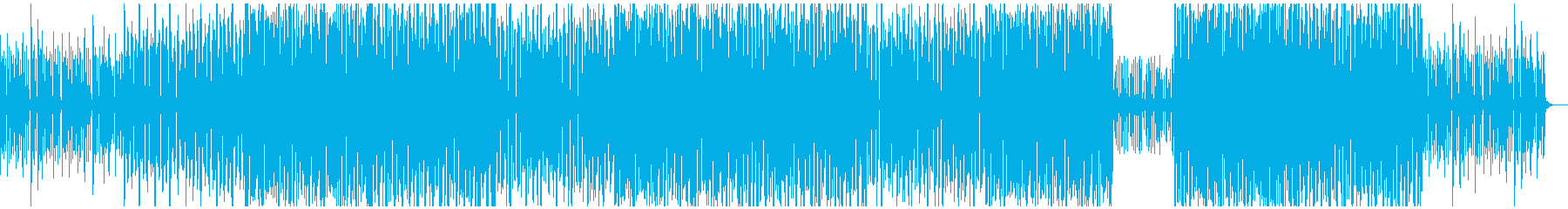 オシャレなBGMの再生済みの波形