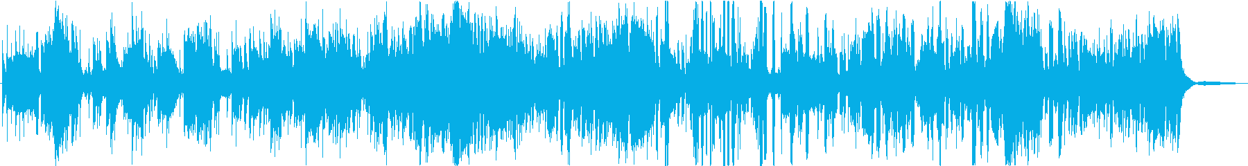 派手なインストファンクの再生済みの波形