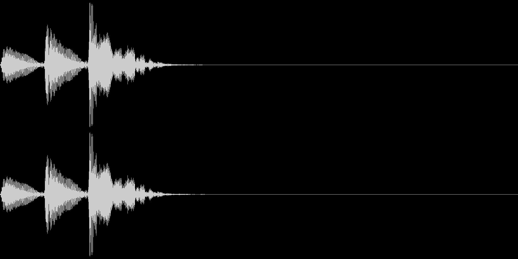 和楽器・鼓(つづみ)の3連打ポポポン1の未再生の波形