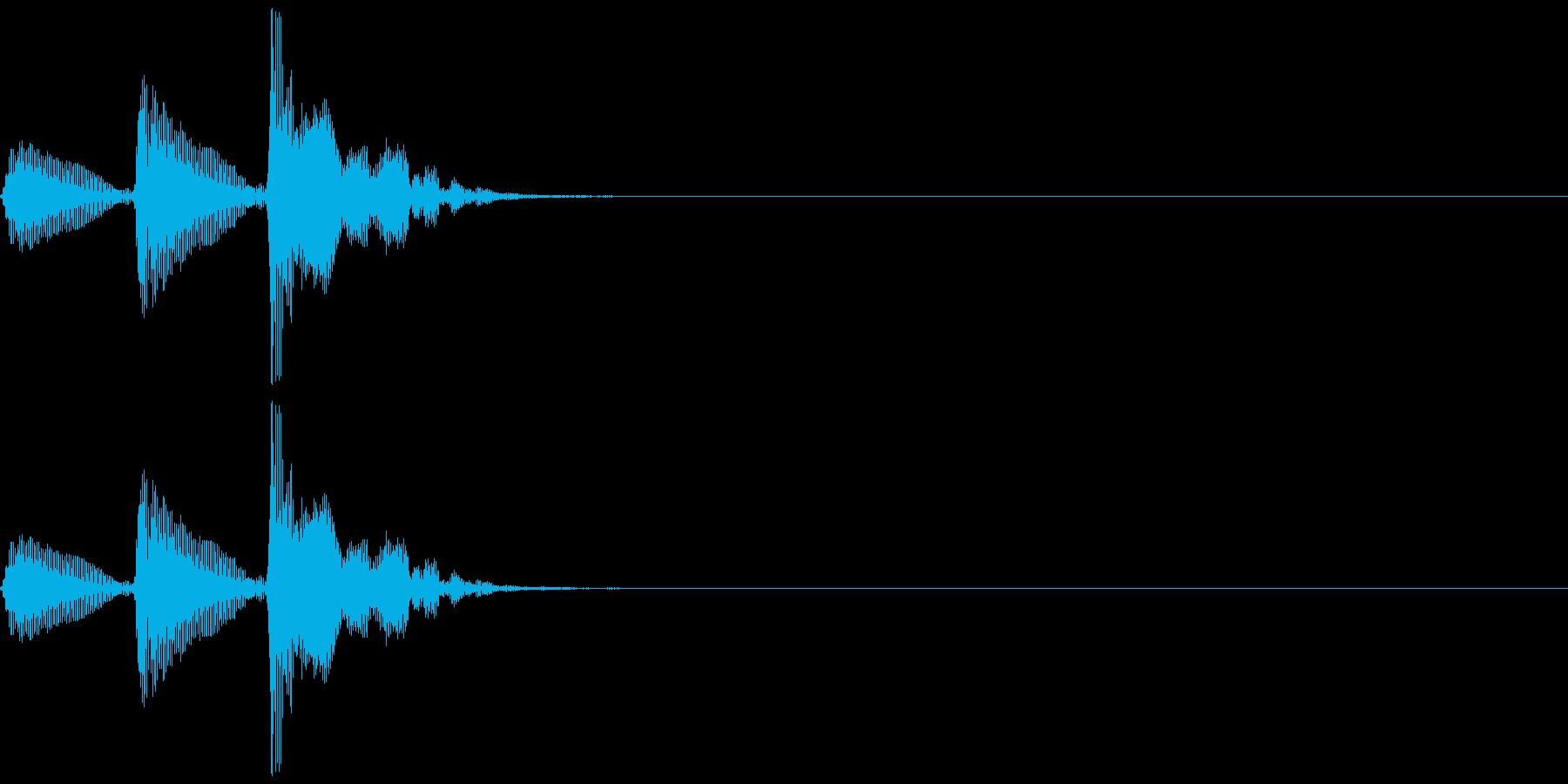 和楽器・鼓(つづみ)の3連打ポポポン1の再生済みの波形