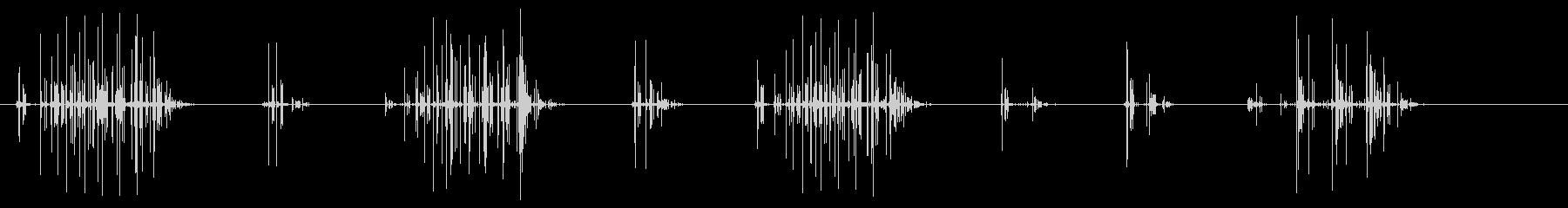ノイズ 単純なクラックルシーケンス01の未再生の波形