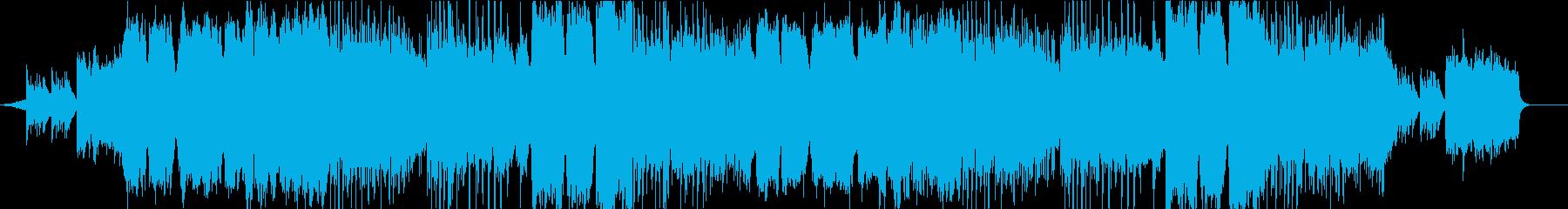 夕暮れの海を思わせるフルートの曲の再生済みの波形