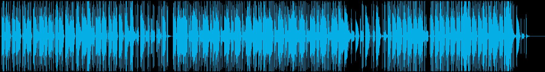 夜の雰囲気を持つアブストラクトなビートの再生済みの波形