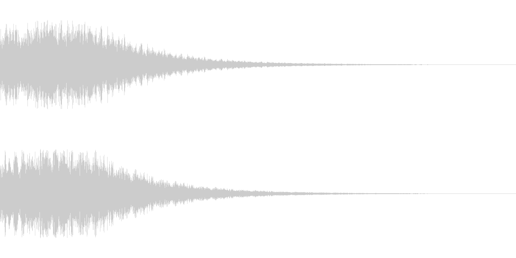 シンセサイザー ゲームスタート1の未再生の波形