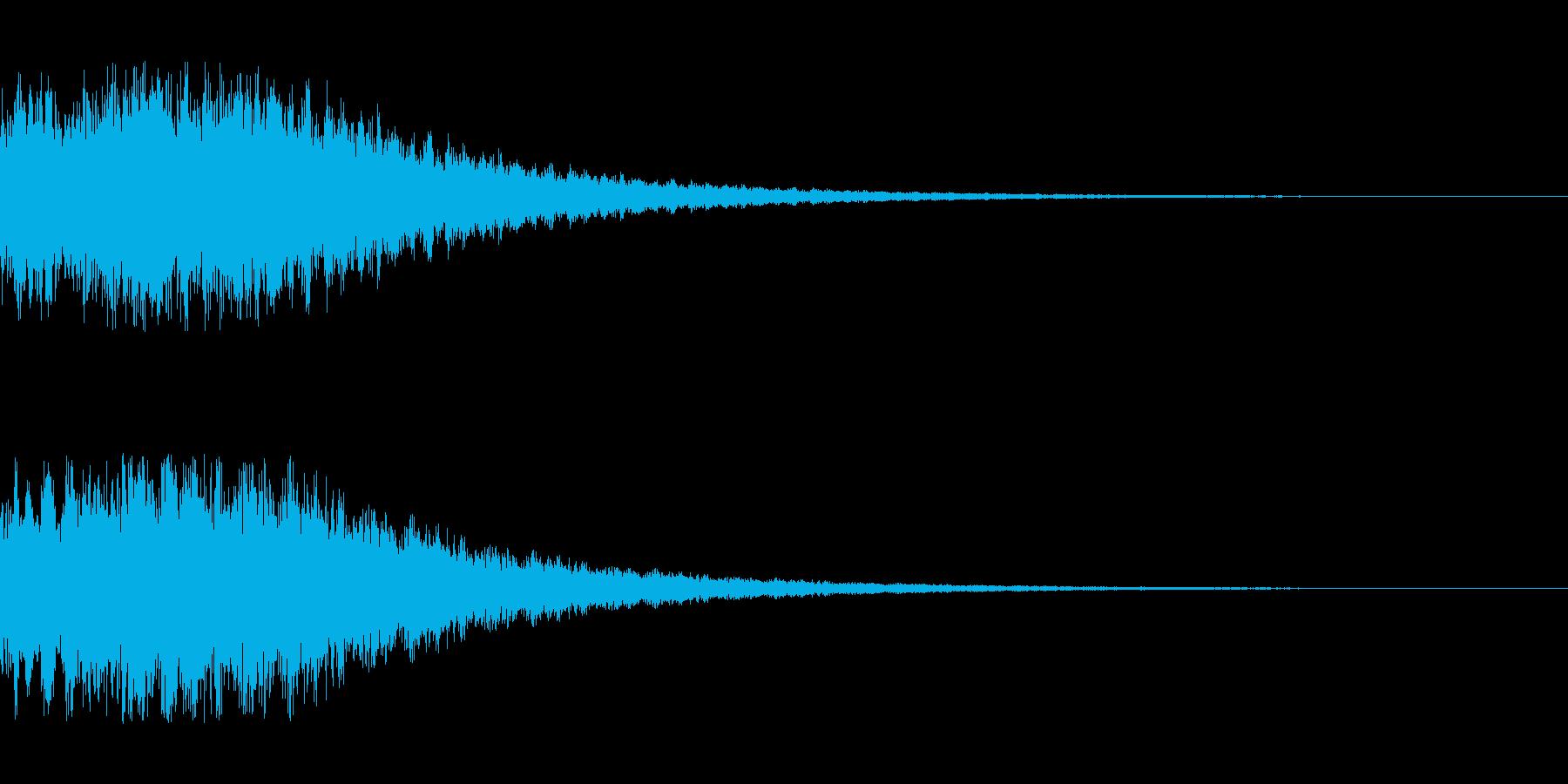 シンセサイザー ゲームスタート1の再生済みの波形