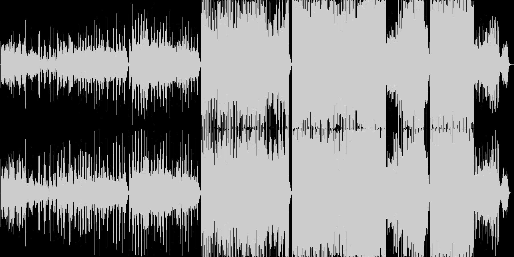 優しいピアノ曲。後半は生演奏バンドの未再生の波形