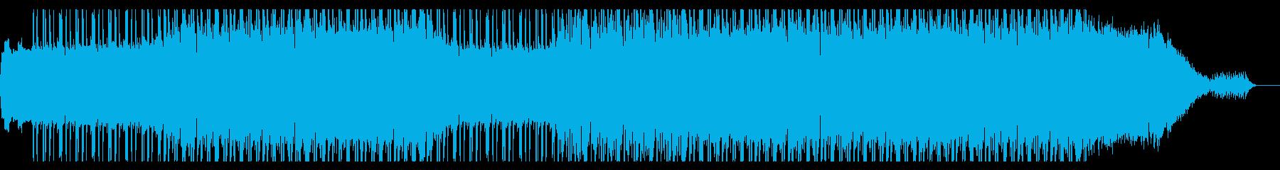 キラキラと輝くドラムンベースの再生済みの波形