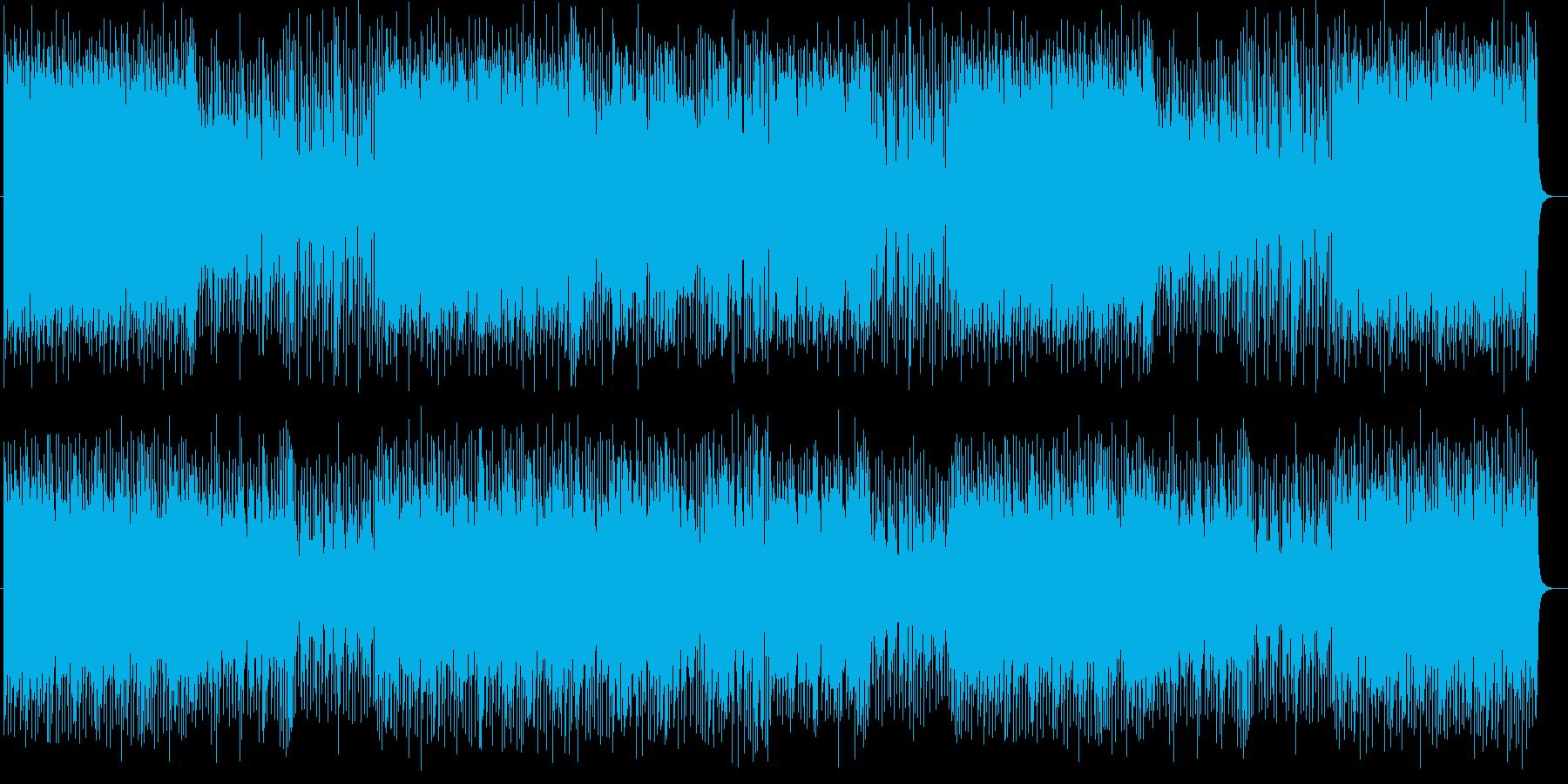 軽快で爽やかな聞き心地の良いリズムの再生済みの波形