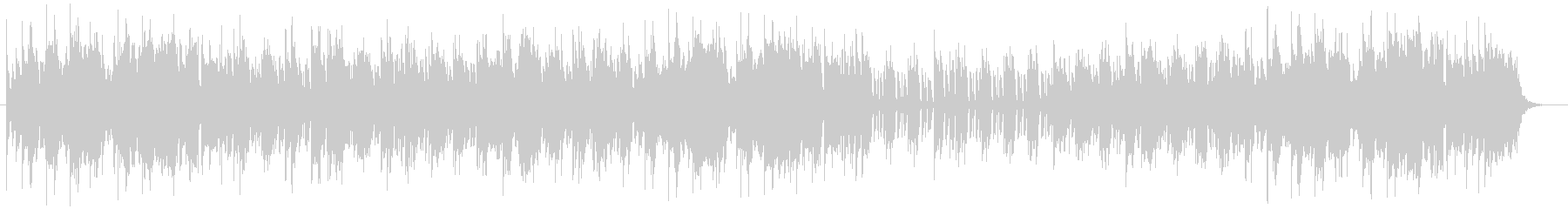 軽快なミドルテンポが特徴のポップスの未再生の波形