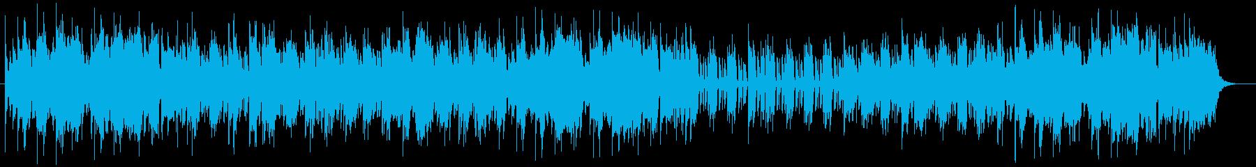 軽快なミドルテンポが特徴のポップスの再生済みの波形