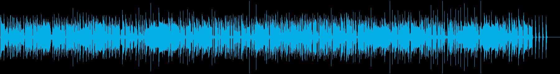 ギターとベースのソウルブルーズ曲の再生済みの波形