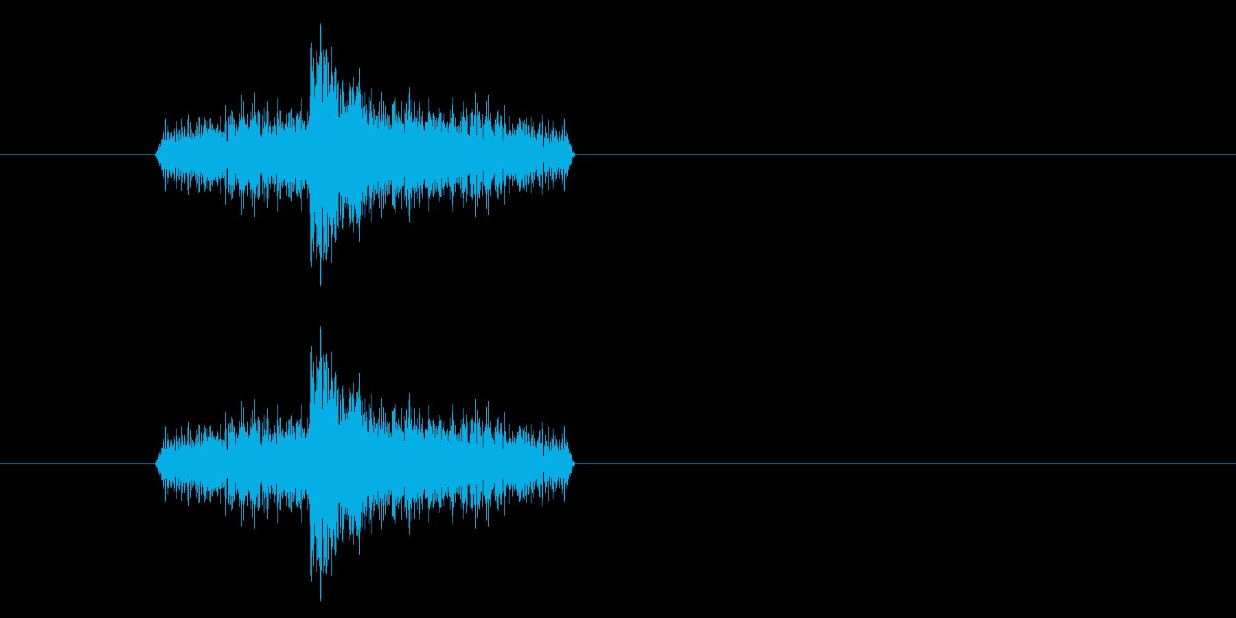 ジャン!リバースオケヒその1の再生済みの波形