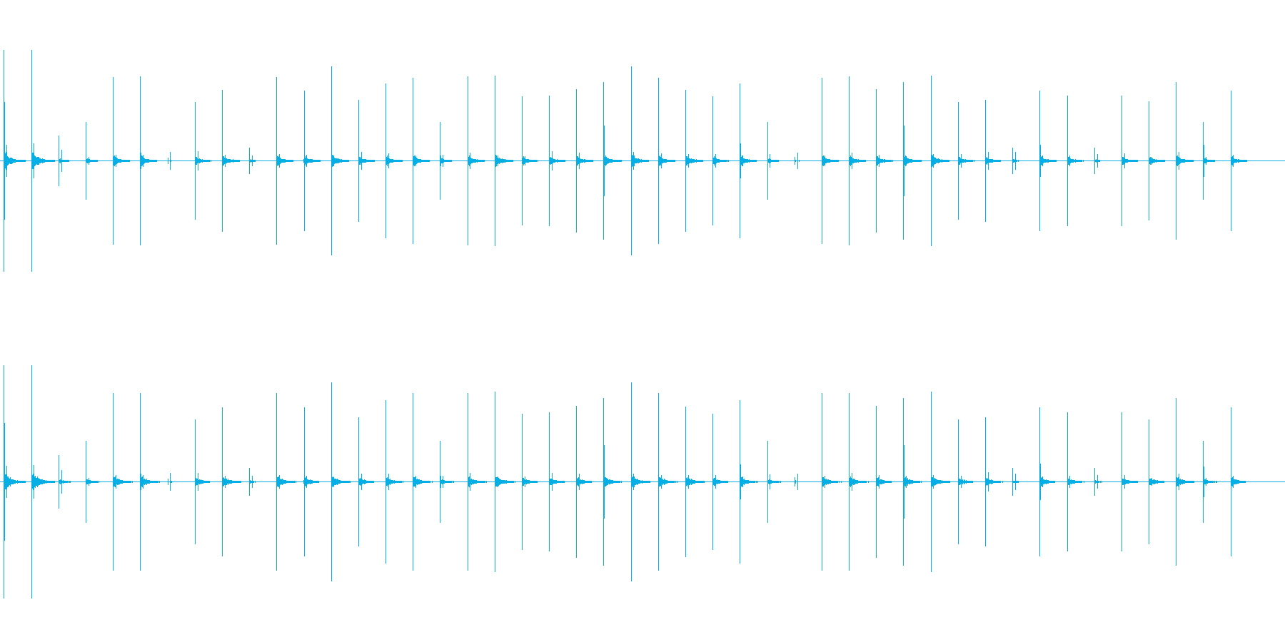 反響音のある、ハイヒールで恐る恐る歩く音の再生済みの波形