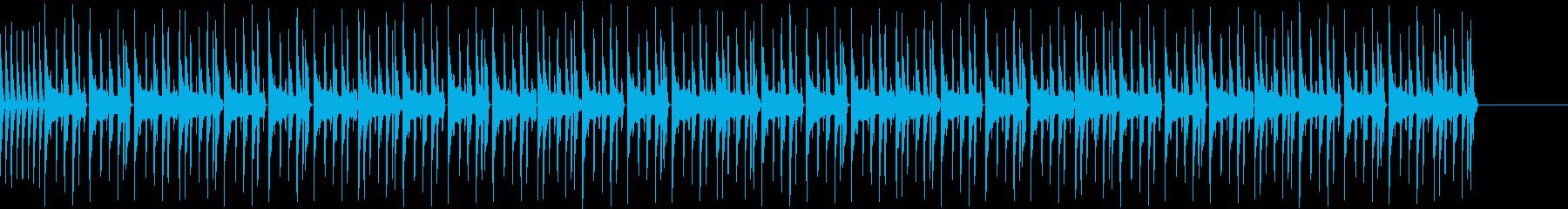 ゆったりとしたサイファービートの再生済みの波形