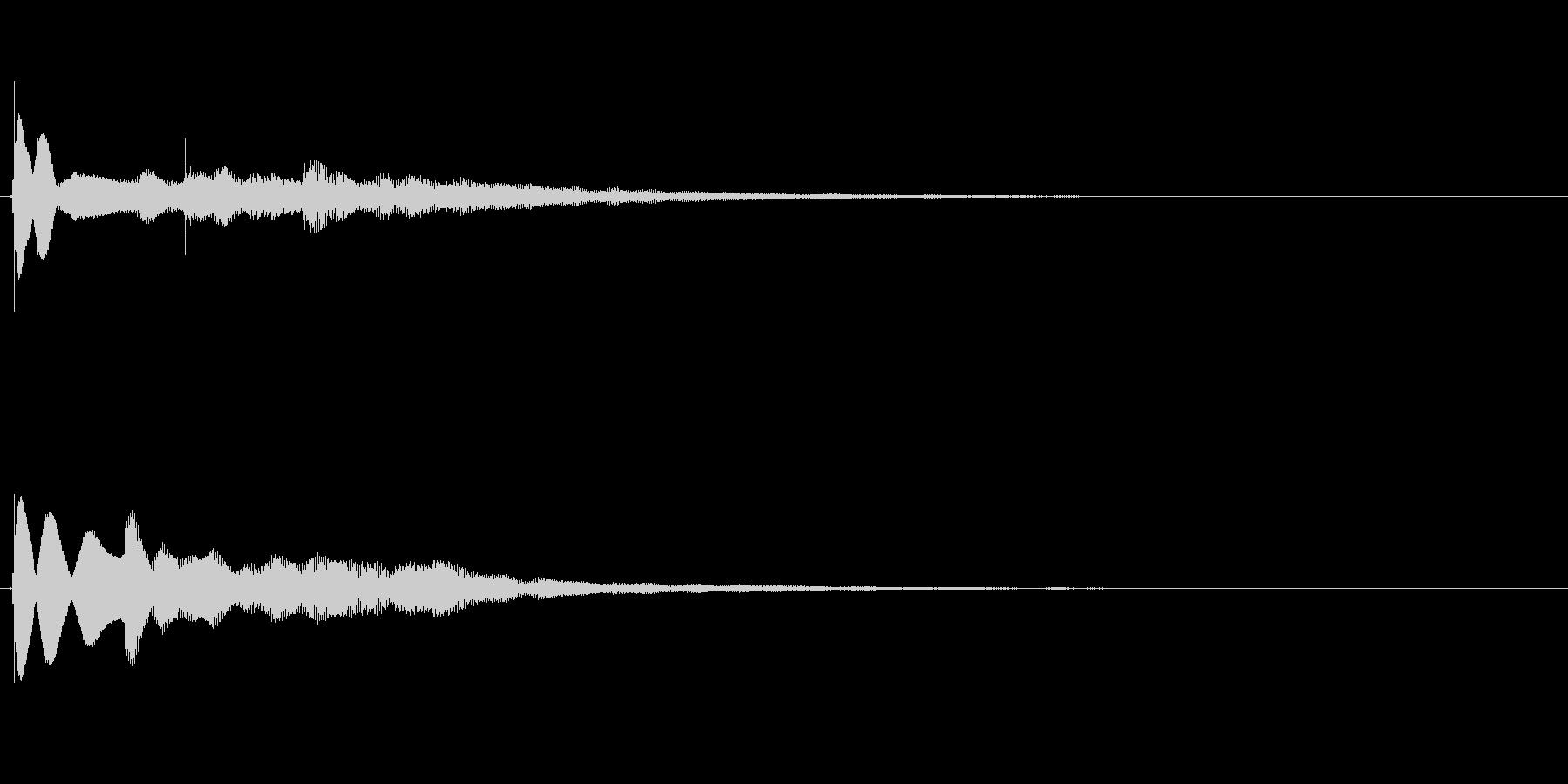 【チーン01-2】の未再生の波形