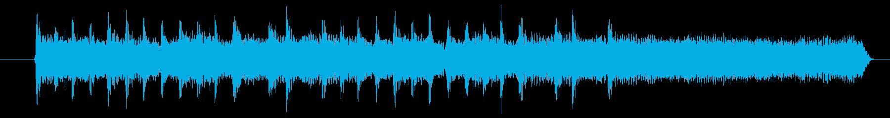シンプルなロックスタイルのジングルの再生済みの波形