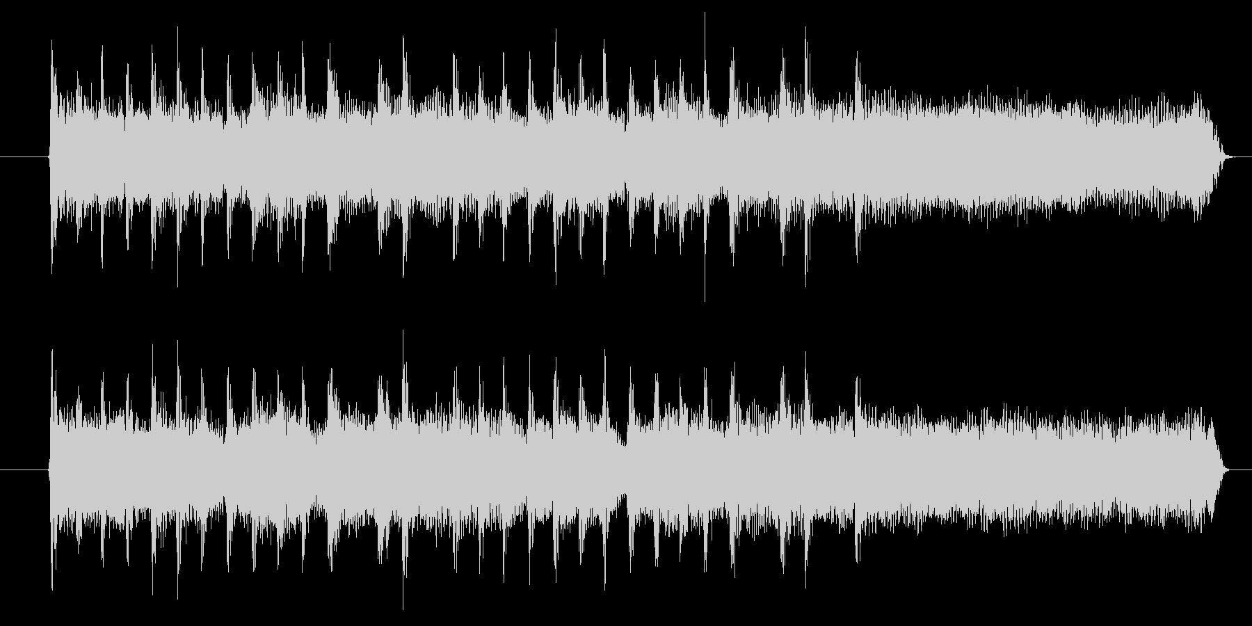 シンプルなロックスタイルのジングルの未再生の波形