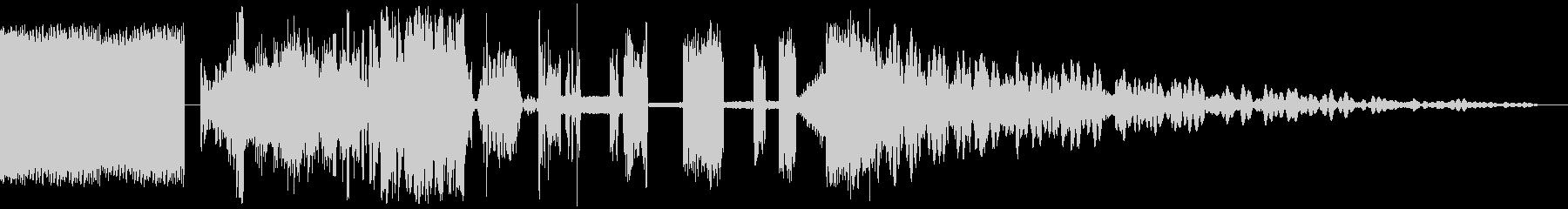 ハイクオリティなラジオジングル制作にの未再生の波形