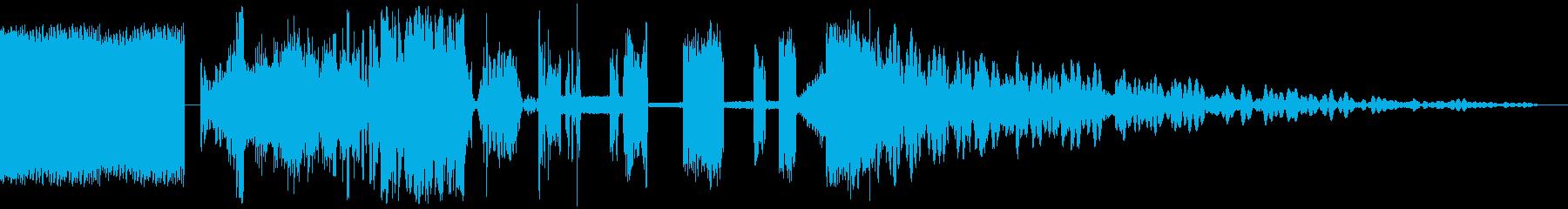 ハイクオリティなラジオジングル制作にの再生済みの波形
