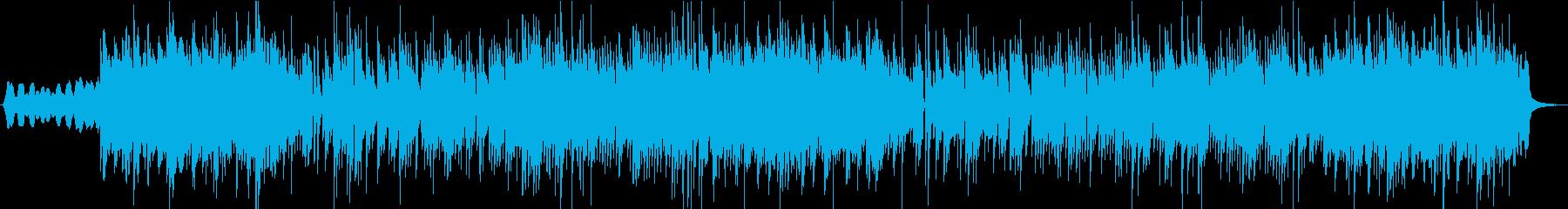 牧歌的な雰囲気のインストの再生済みの波形