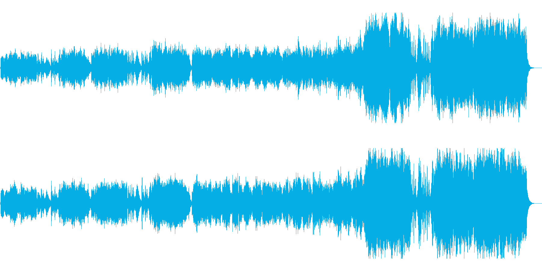 幻想的なフルオーケストラの再生済みの波形