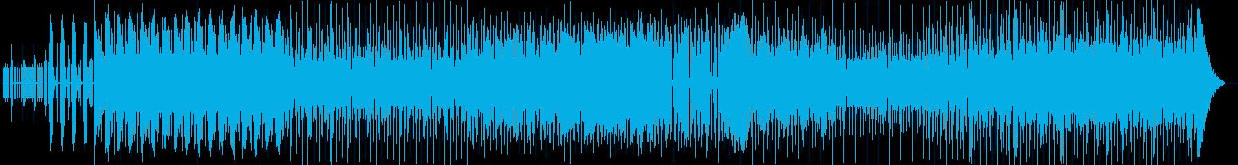 わくわく感のシンセなどテクノ系ポップの再生済みの波形