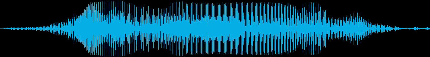 アメリカ人女声「Wao!(ワォ!)」の再生済みの波形