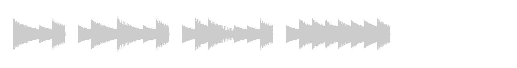 ゲームサウンドをイメージした短いジングルの未再生の波形