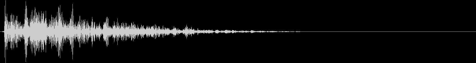 【生録音】プラのトレーを置く音 2の未再生の波形